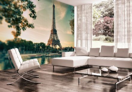 Vintage Eiffel Tower Paris - France wall mural